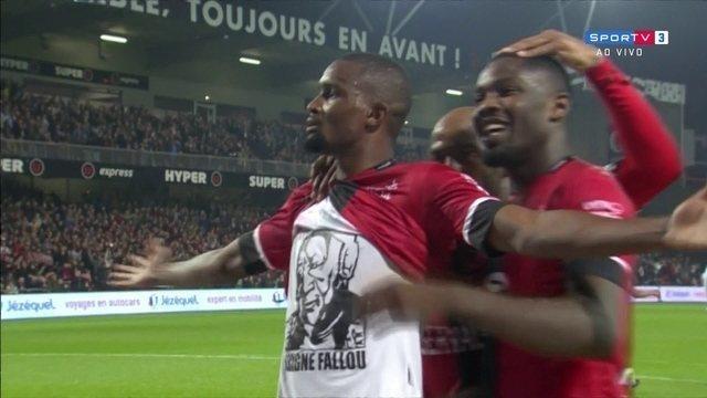 Os gols de Guingamp 2 x 0 Rennes pela 9ª rodada do Campeonato Francês