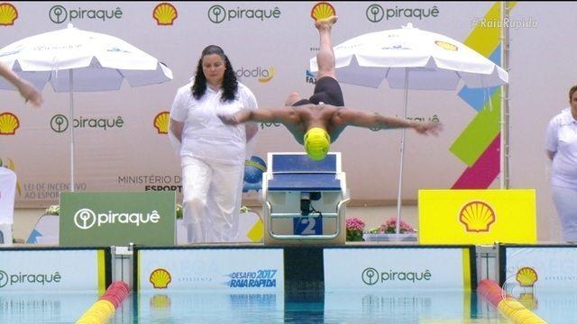 João Gomes conquista o ouro na prova dos 50m peito no Desafio da Raia Rápida