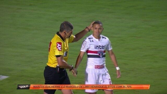 """Marcos Guilherme tromba com árbitro e ambom são donos da """"garrancho"""" da rodada"""