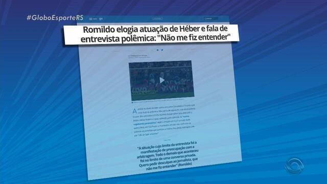Romildo Bolzan Júnior pede desculpas após polêmica envolvendo árbitro Héber Roberto Lopes