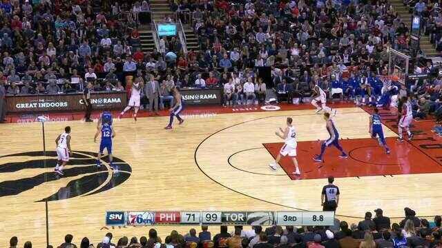 Melhores momentos de Toronto Raptors 128 x 94 Philadelphia 76ers pela NBA