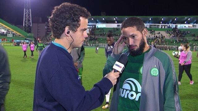 """""""A vitória nos afasta da zona de rebaixamento', diz Arthur, autor de gol da Chape"""