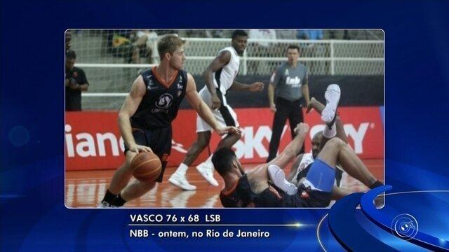Liga Sorocabana perde para o Vasco no NBB