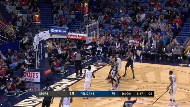 Melhores momentos: New Orleans Pelicans 107 x 90 San Antonio Spurs pela NBA
