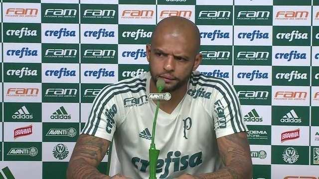 Felipe Melo abre portas para Lucas Lima e diz que que vai cobrar postura profissional dele