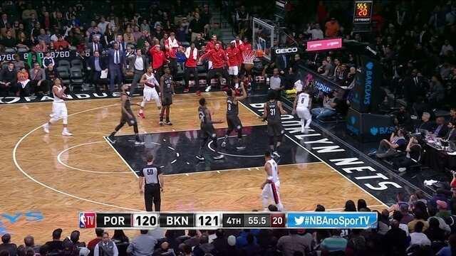 Melhores momentos: Brooklyn Nets 125 x 127 Portland Trail Blazers pela NBA