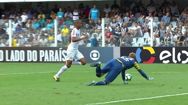 Melhores momentos de Santos 1 x 1 Avaí pelo Brasileirão