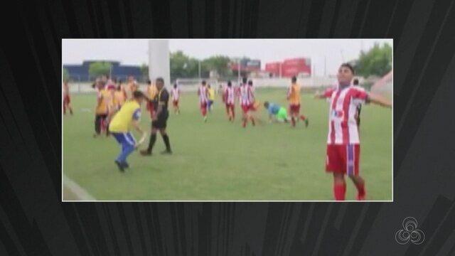 Jogador foi agredido em final do Campeonato Amazonense juvenil