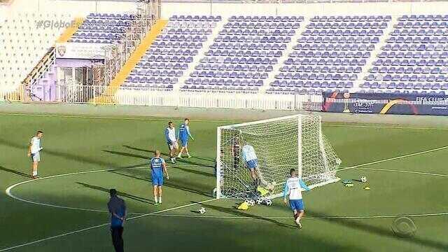 Grêmio faz último treino antes da partida contra o Pachuca