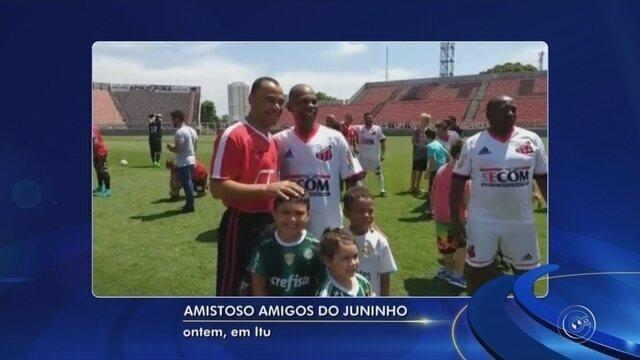 Juninho Paulista promove jogo solidário em Itu com ex-jogadores do Ituano e estrelas
