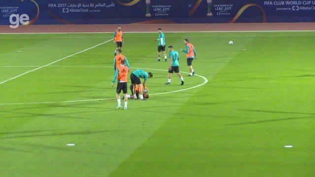 Primeiro treino do Real Madrid em Abu Dhabi tem sustos de CR7 e Casemiro