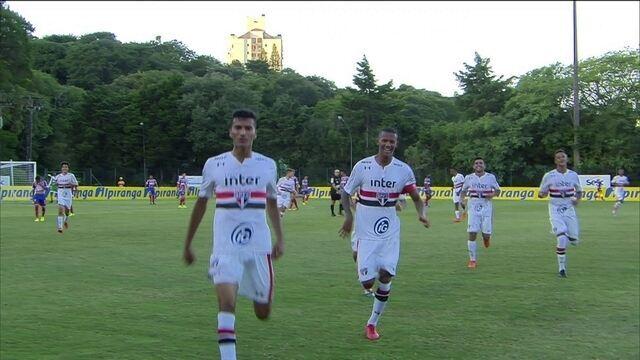 Os gols de São Paulo 3 x 0 Bahia pela Copa RS de futebol sub-20
