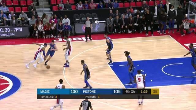Melhores momentos: Detroit Pistons 114 x 110 Orlando Magic pela NBA