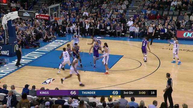 Melhores momentos: Sacramento Kings 88 x 95 Oklahoma City Thunder pela NBA