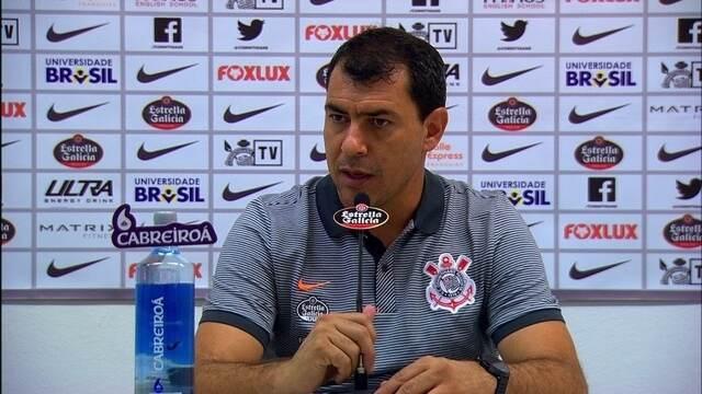 Veja a entrevista do técnico Fábio Carille, do Corinthians, depois da derrota para Ponte