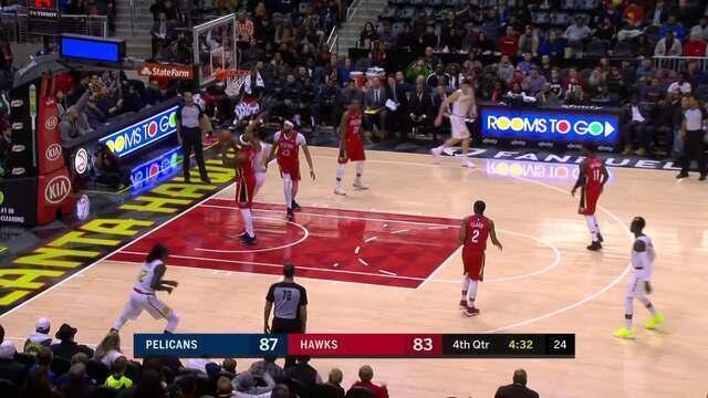 Melhores momentos: New Orleans Pelicans 93 x 94 Atlanta Hawks pela NBA