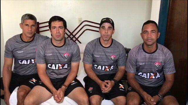 Copinha: treinador e comissão técnica do Vitória mandam recado para os torcedores