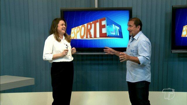 Tatiane Lobato e Nelson Mota apresentam os destaques do esporte