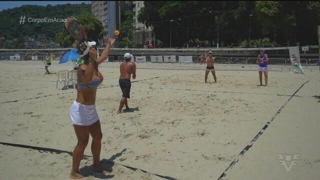 Torneio de beach tennis agitou a orla do Gonzaguinha, em São Vicente