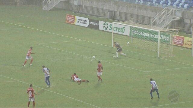 Debaixo de muita chuva Dom Bosco e União empataram sem gols na Arena Pantanal