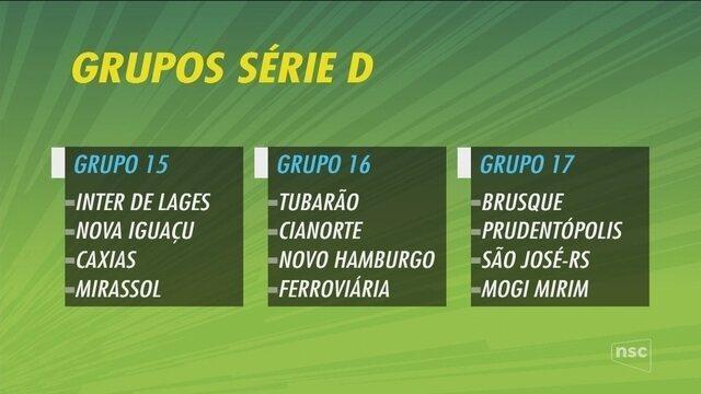 CBF divulga grupos da Série D do Campeonato Brasileiro 2018