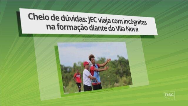 Joinville viaja com dúvidas na formação para enfrentar o Vila Nova