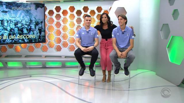 Globo Esporte RS entrevista os jogadores Geromel e Marcelo Grohe, do Grêmio