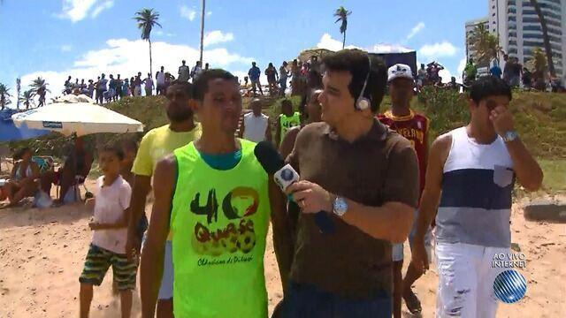 Jogo beneficente ajuda vítima da tragédia em Pituaçu