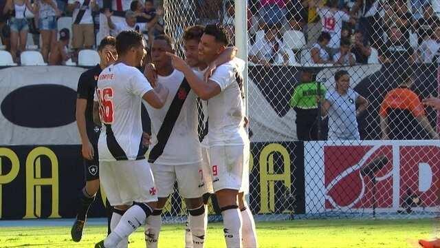 Os gols de Botafogo 2 x 3 Vasco pela 6ª rodada da Taça Rio do Campeonato Carioca