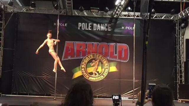 Feira fitness também promove competição de pole dance