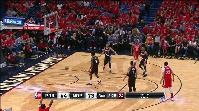 Melhores momentos: Pelicans 131 x 123 Blazers pelos playoffs da NBA