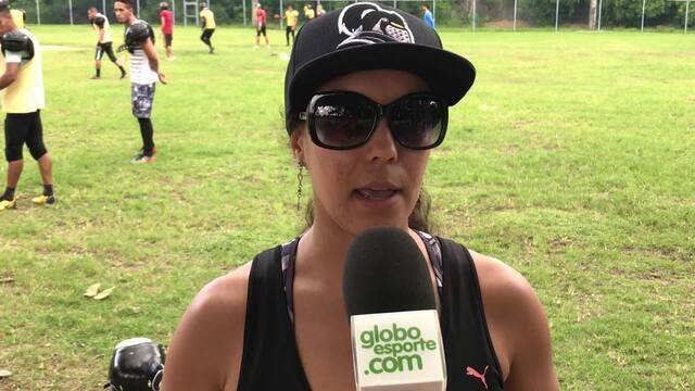 Preparadora física Estela Altoé comenta sobre a com campeões do Super Bowl