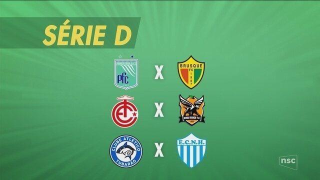 Catarinenses jogam pela Série D neste final de semana; confira os jogos
