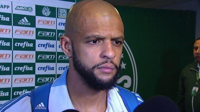Capitão do Palmeiras, Felipe Melo comemora vitória contra o Bahia