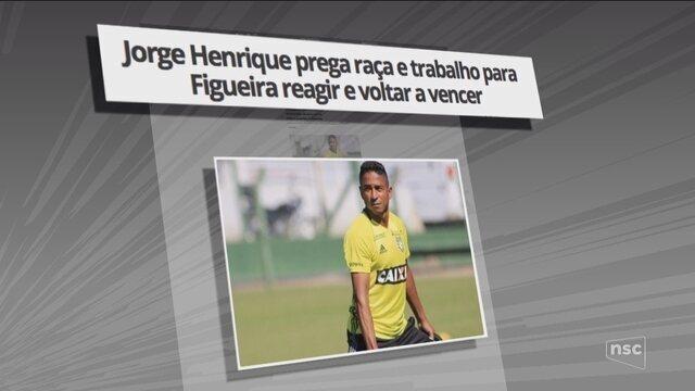 Jorge Henrique prega raça e trabalho para Figueira reagir; Zé Antonio retorna contra o CSA