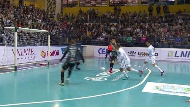 Os gols de Marreco Futsal 2 x 1 Pato Futsal pela Liga Nacional de futsal