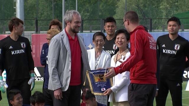 Jogadores do Japão recebem visita de princesa e treinam para encarar Senegal