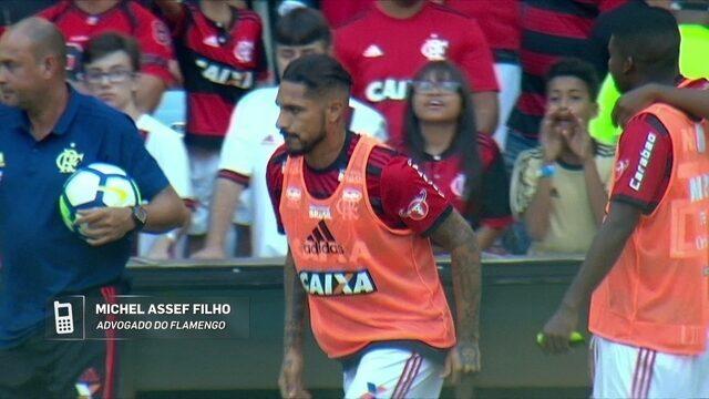 Advogado do Flamengo fala da situação de Paolo Guerrero para jogo contra o São Paulo