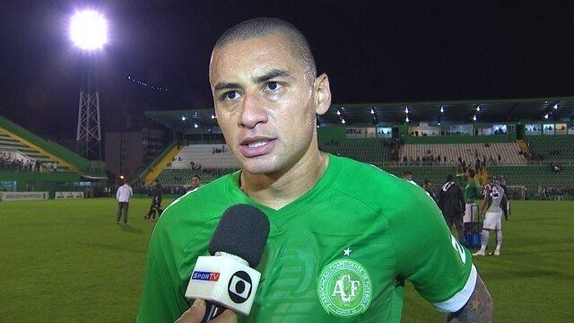 Wellington Paulista comenta empate da Chapecoense com o Santos