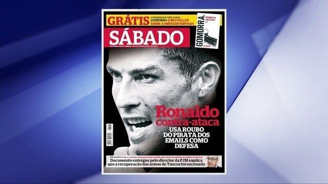 """Revista portuguesa dedica 10 páginas ao caso CR7: """"Ronaldo contra-ataca"""""""