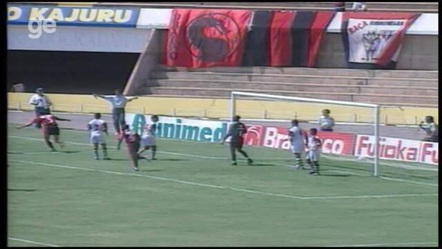 Os gols de Atlético-GO 2 x 1 Desportiva Ferroviária, pela Série B do Brasileiro 1998