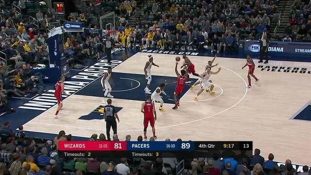Melhores momentos: Pacers 109 x 101 Wizards pela NBA