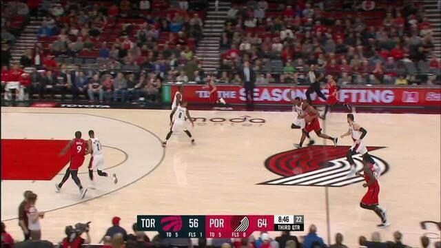 Melhores momentos: Toronto Raptors 122 x 128 Portland Trail Blazzers pela NBA/
