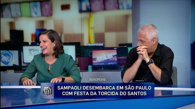 """Comentaristas falam sobre os """"riscos"""" da chegada de Sampaoli ao Santos"""