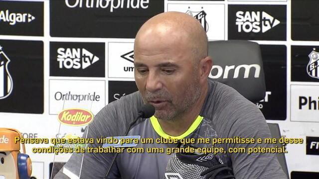 """Comentaristas analisam entrevista de Sampaoli: """"Não é uma entrevista sincerona"""""""