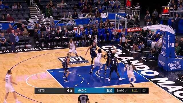 Melhores momentos: Brooklyn Nets 117 x 115 Orlando Magic