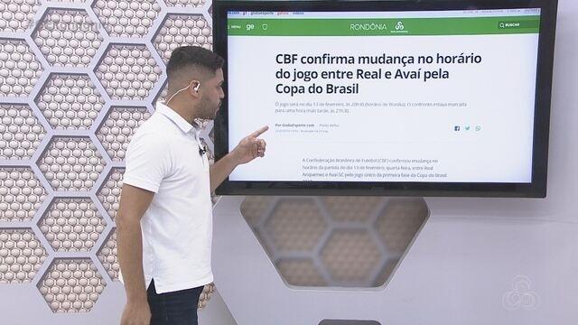 Confira na íntegra o Globo Esporte Rondônia desta terça-feira, 22