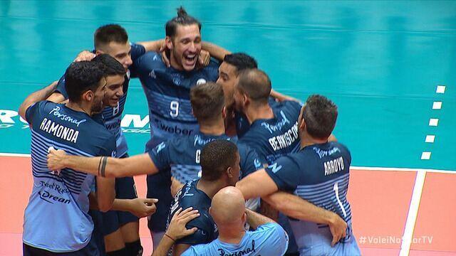 Os pontos finais de Taubaté 2 x 3 Bolivar pela semifinal da Copa Libertadores de Vôlei