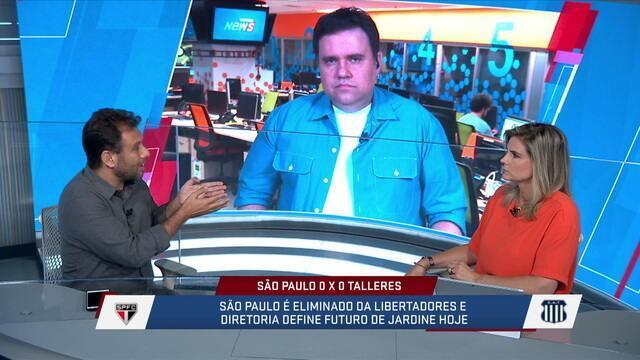 Após eliminação do São Paulo da Libertadores, comentaristas debatem sobre futuro do Jardine no clube paulista