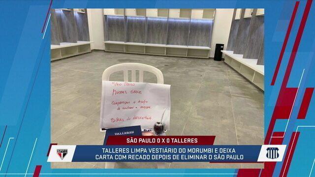 Comentaristas falam sobre o bilhete do Talleres deixado no vestiário depois do jogo